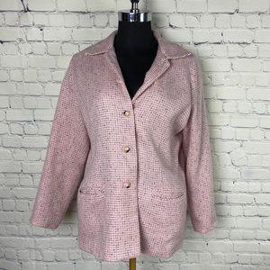 SAG HARBOR Vintage pink blazer  size 14